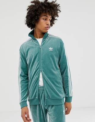 adidas Velour Track Jacket Green
