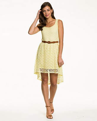 Le Château Crochet Scoop Neck Dress