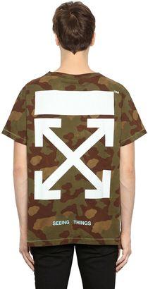 Camo Arrows Print Cotton Jersey T-Shirt $323 thestylecure.com