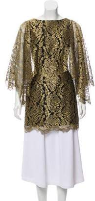 Couture Rex Haute Lace-Accented Sleeveless Tunic