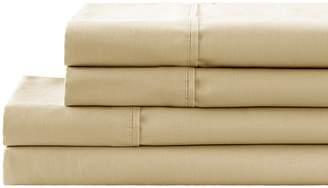 California Design Den by NMK 300 Thread Count Cotton Sateen Sheet Set - Oxford Tan