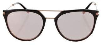 Bvlgari Round Mirrored Sunglasses w/ Tags