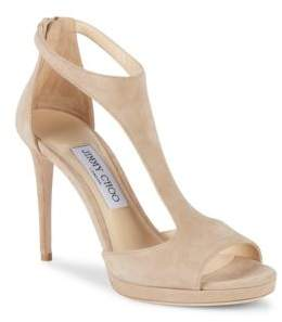 Jimmy Choo Lana Suede T-Strap Sandals
