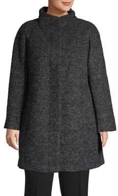 London Fog Boucle A-Line Coat