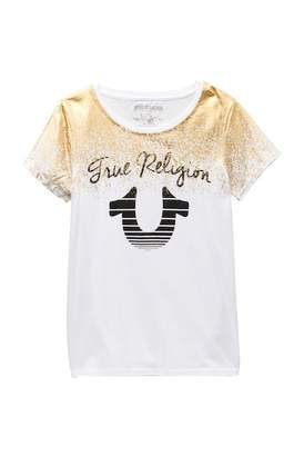 True Religion Foil Spray Tee (Big Girls)