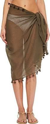 Seafolly Women's Beach Basics Cotton Gauze Sarong Swimsuit Cover up