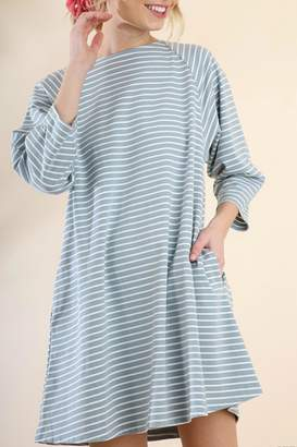 Umgee USA Striped Blue Dress