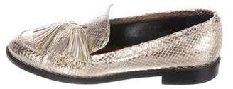 Frances Valentine Metallic Snakeskin Loafers