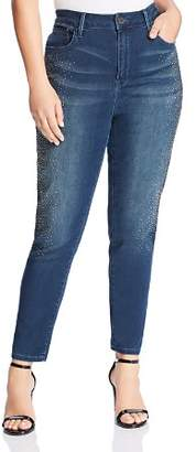 Seven7 Jeans Plus High-Rise Embellished Jeans in Rendition