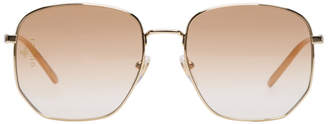 Gucci Gold Geometric Sunglasses