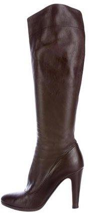 pradaPrada Leather Knee-High Boots