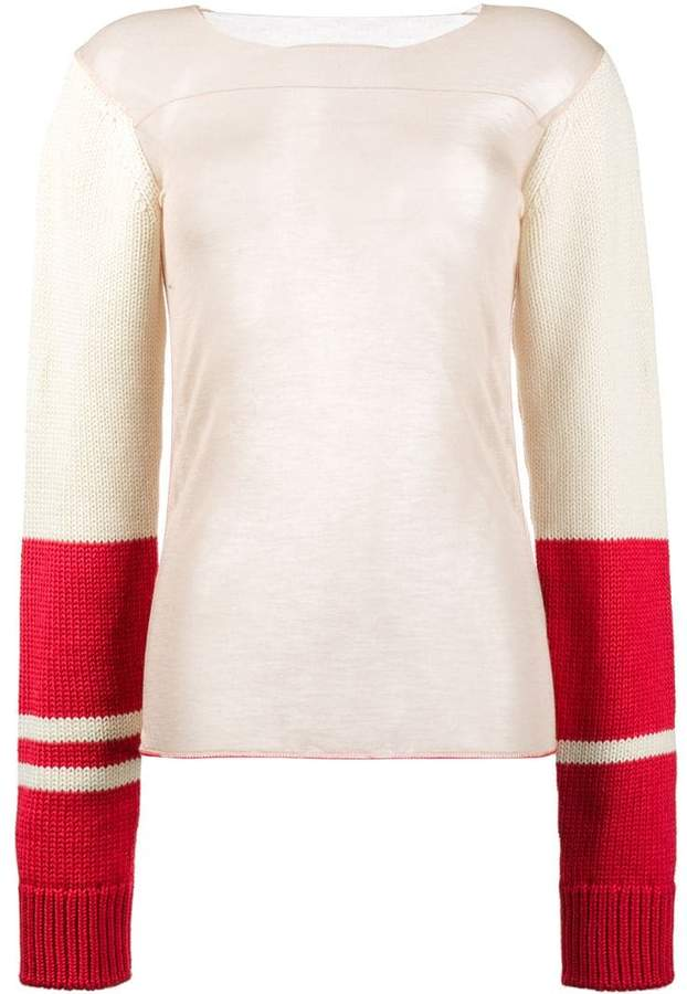 Calvin Klein 205W39nyc varsity sleeve stocking top