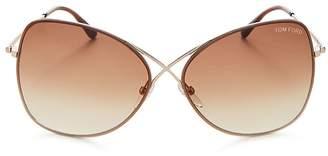 Tom Ford Women's Round Sunglasses, 60mm