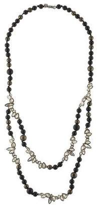 Alexis Bittar Onyx & Crystal Double Strand Necklace