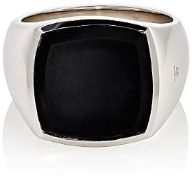 Tom Wood Women's Cushion Signet Ring-Silver