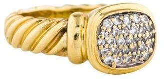 David Yurman 18K Pavé Diamond Noblesse Ring