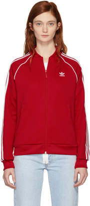 adidas Red SST Track Jacket