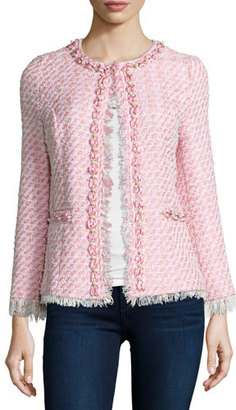Michael Simon Tweed Beaded Jacket, Plus Size $295 thestylecure.com