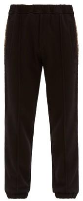 Logo Jacquard Striped Jersey Track Pants - Mens - Black