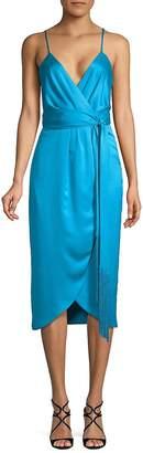 Nicole Miller New York Women's Spaghetti Strap Wrap Dress