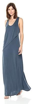 BCBGMAXAZRIA Azria Women's Audra Knit Ruffle Overlay Maxi Dress