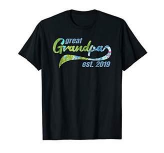 Great Grandpa Est 2019 Shirt Hawaiian Baby Announcement Tee