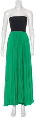 Alexis Pleated Maxi Dress Green Pleated Maxi Dress