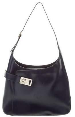 07e6e8d750be Salvatore Ferragamo Gancio Smooth Leather Shoulder Bag