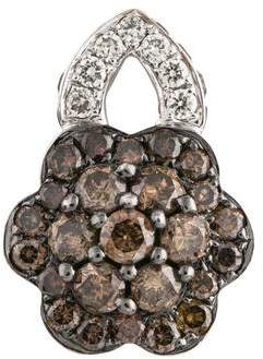 14K Diamond Flower Pendant