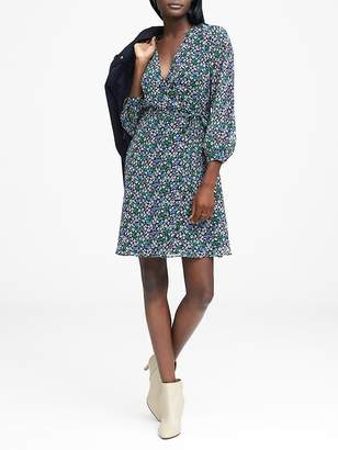 Banana Republic Petite Floral Wrap Dress