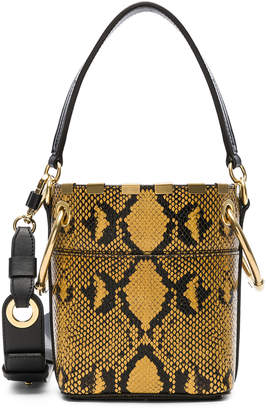 Chloé Mini Roy Python Print Leather Bucket Bag