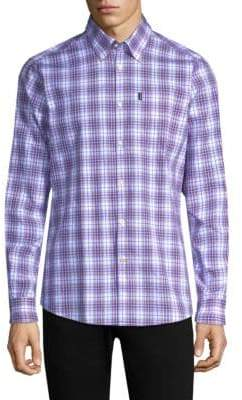 Barbour Men's Leo Tailored-Fit Cotton Button-Down Shirt - Pink - Size XXL