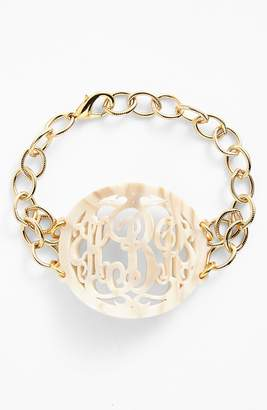 Moon and Lola 'Annabel' Large Oval Personalized Monogram Bracelet