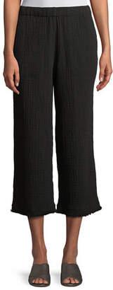 Eileen Fisher Organic Cotton Lofty Gauze Cropped Pants