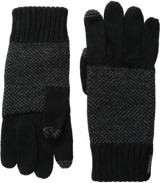 Calvin Klein Men's Birds Eye Back Glove with Touchscreen Technology