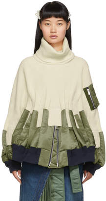 Sacai Off-White Knit MA-1 Turtleneck