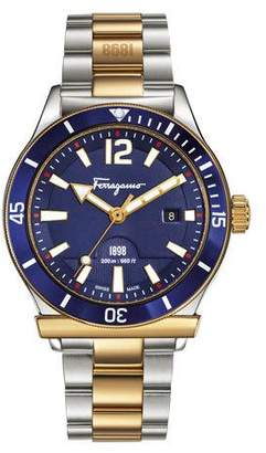 Salvatore Ferragamo 43mm 1898 Two-Tone Bracelet Watch