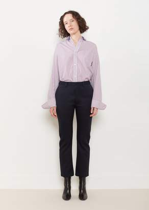 Vetements Cropped Fitted Pants Navy