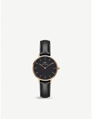 Daniel Wellington DW00100224 Classic Petite Sheffield rose gold-plated leather strap watch
