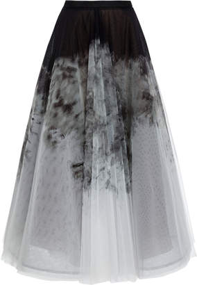 Marchesa Degrade Organza Midi Skirt