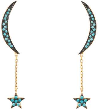 Latelita - Moon & Star Earring Gold Turquoise