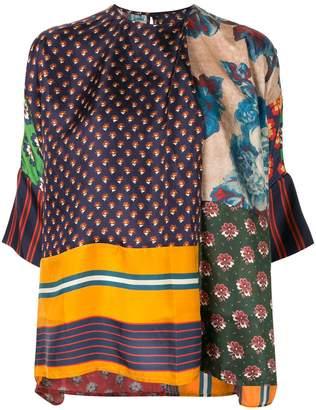 Biyan patchwork tunic top