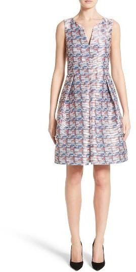 Women's Armani Collezioni Pixel Print Fit & Flare Dress