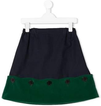 Owa Yurika colour block button skirt