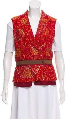 Gianfranco Ferre Embellished Silk-Blend Vest