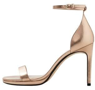 MANGO Metallic heel sandals