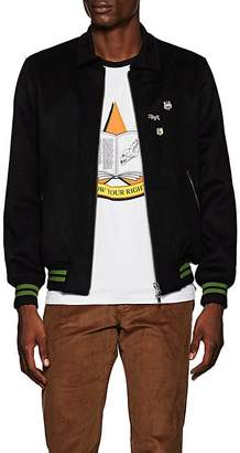 "Ovadia & Sons Men's ""Chemin De Fer"" Embroidered Wool Melton Varsity Jacket"