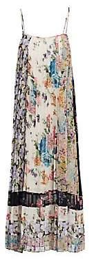 Zimmermann Women's Ninety-Six Spliced Pleat Floral Dress