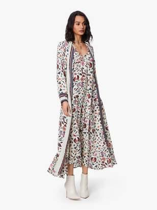 Natalie Martin Fiore Maxi Silk Dress - Wildflower Pearl
