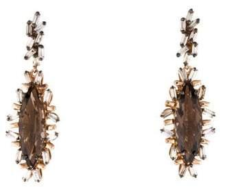 Suzanne Kalan 18K Diamond & Quartz Drop Earrings